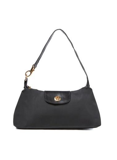 TH Bags TH Bags 2THCW2020185 Suni Deri Fermuarlı Kadın Omuz Çantası Siyah